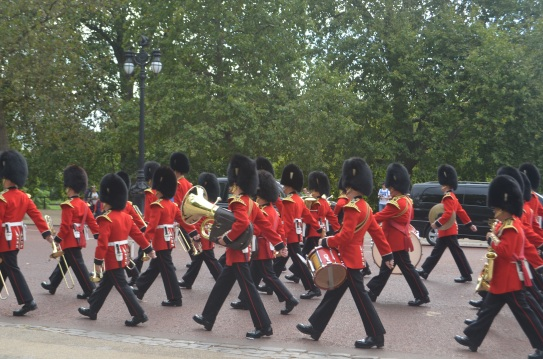 Royal guards doing... something. No idea what, but it looks great.