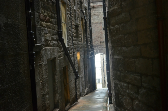 One of the many Diagon Alley-like back alleys in Edinburgh.