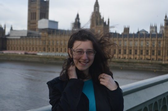 A picture of yours truly, with the wind gloriously tugging at my hair. (har. har.)