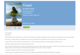 FRAYED is Now on Netgalley!